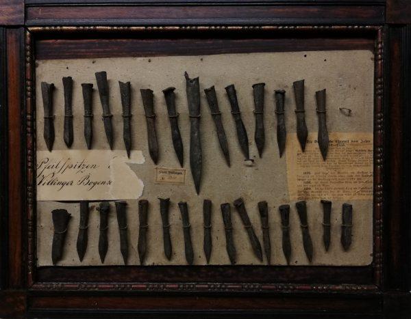 Geschossspitzen vom Lindenwasen im Franziskanermuseum