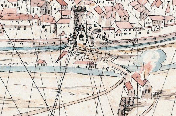 Schützenhaus auf einer Belagerungsskizze von 1633